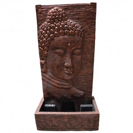 Fontaine débordement visage bouddha M rouge (CIM5002ROUGE)