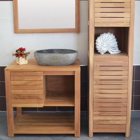 meuble sous vasque en teck 80 cm mrc00280
