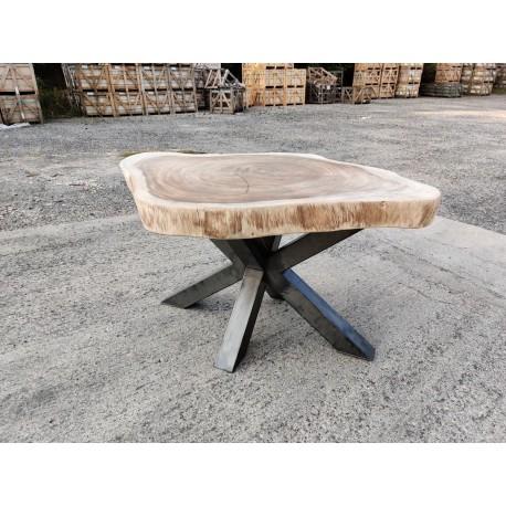 Table en bois de Suar ronde Ø150x119cm (RSUAR01-150)