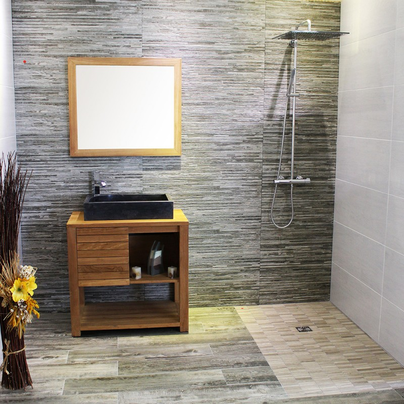 meuble sous vasque en teck 80 cm mrc002 80. Black Bedroom Furniture Sets. Home Design Ideas