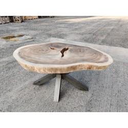 Table en bois de Suar ronde Ø163x110cm (RSUAR02-163)