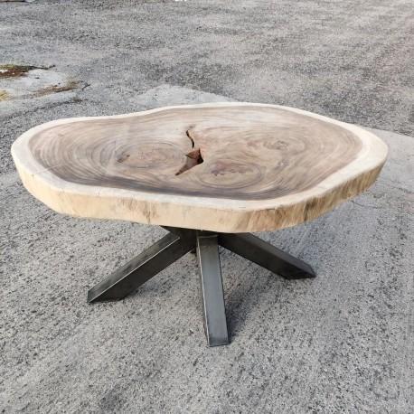Table en bois de Suar ronde Ø156x106cm (RSUAR03-156)