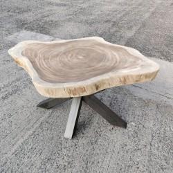 Table en bois de Suar ronde Ø156x127cm (RSUAR04-156)