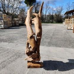 Sculpture d''une racine en Teck H174 (RAC052)