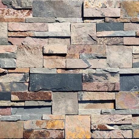 Parement pierre Ardoise 18x35 (PIER-A014) vendu à la palette