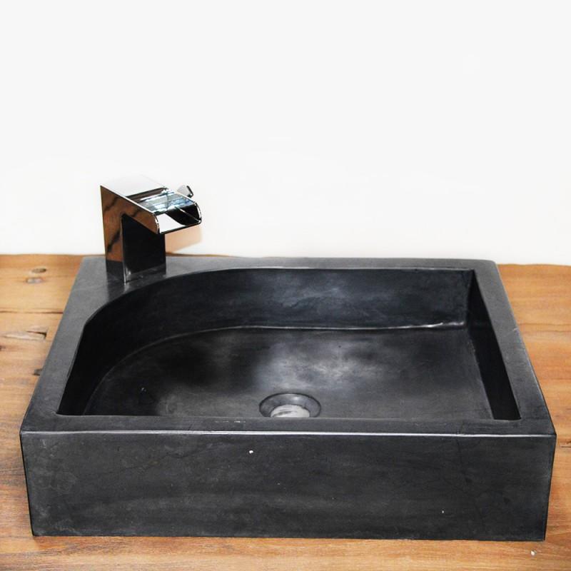vasque marbre rectangulaire 50 cm avec trou robinet vasq50at. Black Bedroom Furniture Sets. Home Design Ideas