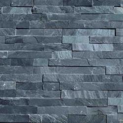 Parement pierre Ardoise noir 15x55 (PIER-G007)
