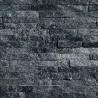 Parement pierre Quartzite noir 15x55 (PIER-G013)