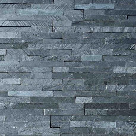 Parement pierre Ardoise noir 10x36 (PIER-P007)
