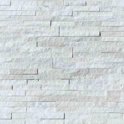 Parement pierre Quartzite blanc strass 10x36 (PIER-P010)