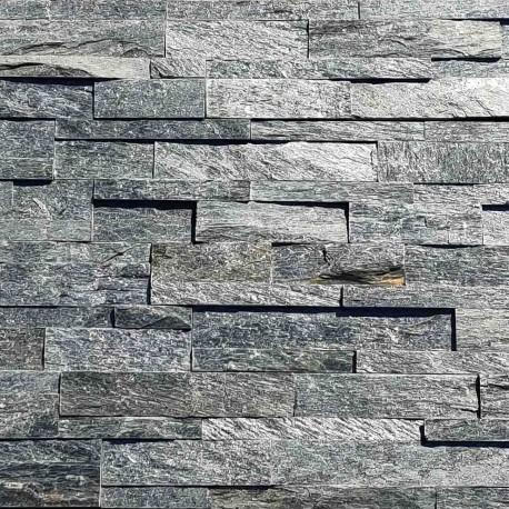 Parement pierre Quartzite gris mix 15x60 (SILVER-SHINE)