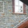Parement forte épaisseur pierre Ardoise rustique 20x55 (GREEN-MIX-RUSTIC)