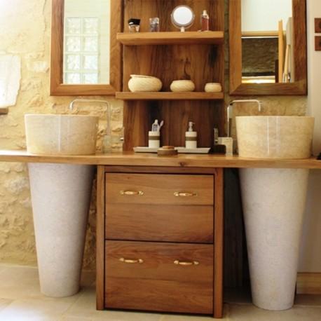 Vasque ronde sur pied marbre (VASQ40PR)