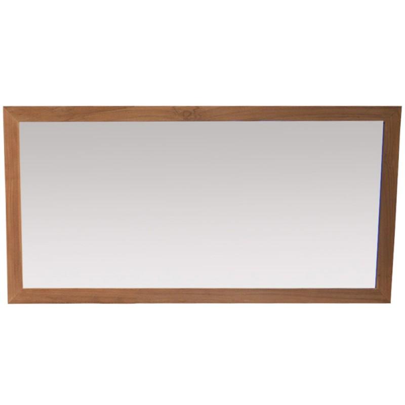 Miroir en teck 140 cm mrc004 for Miroir 140 cm