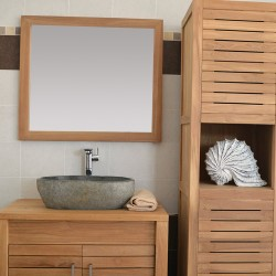 Miroir en Teck 80 cm (MRC006)