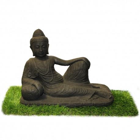 Statuette bouddha allongé noir (STA-CIM001-NOIR)