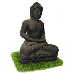 Statuette bouddha méditation noir (STA-CIM002-NOIR)