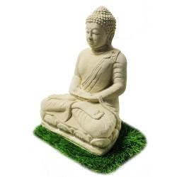 Statuette bouddha méditation blanc (STA-CIM002-BLANC)
