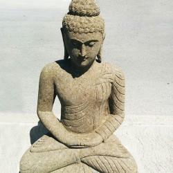 Statue bouddha en pierre naturelle verte (STA-PIER001)