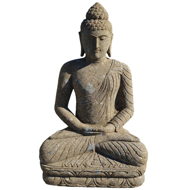 statue bouddha en pierre naturelle verte sta pier001. Black Bedroom Furniture Sets. Home Design Ideas