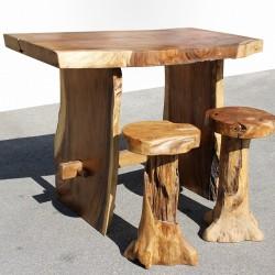 Table haute en Suar massif 140x70 cm (SUAR3501)