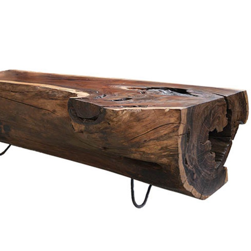 table basse tronc bois noble 160cm pal1160. Black Bedroom Furniture Sets. Home Design Ideas
