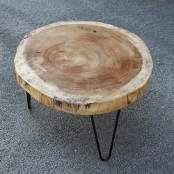 Table basse ronde bois de Suar (SUAR2070)