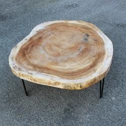 Table basse ronde en Suar Ø70 (SUAR1072)