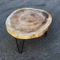 Table basse ronde en Suar Ø70 (SUAR1073)