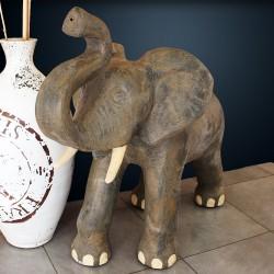 Statue Eléphant naturelle H75 fibrociment (STA-CIM007)