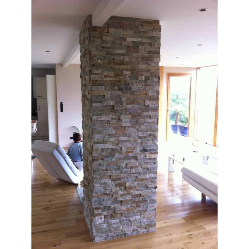 parement pierre naturelle quarzite mix 10x36 par pier003. Black Bedroom Furniture Sets. Home Design Ideas