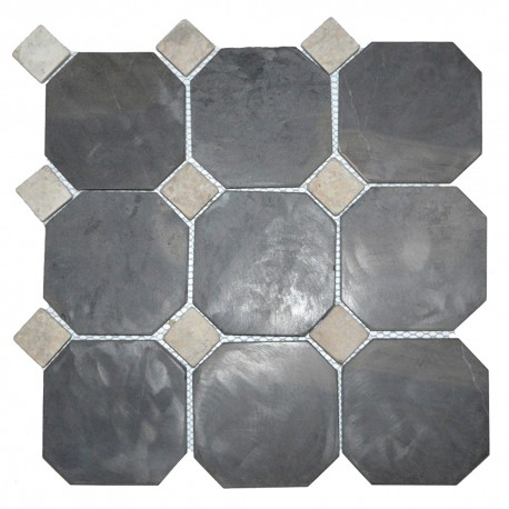 Mosaïque 30x30 Parquet hexagon Light grey (MOS001)