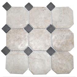 Mosaïque 30x30 Parquet mix 10x10 white / 3x3 grey (MOS003)