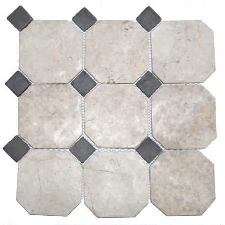 Mosaïque 30x30 Parquet mix 10x10 grey / 3x3 white (MOS002)