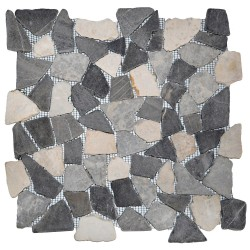 Mosaïque 30x30 Interlock mix white/grey (MOS007)