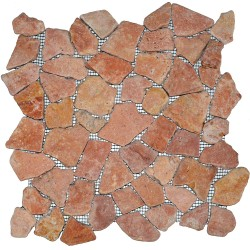 Mosaïque 30x30 Interlock ocre rose (MOS010)