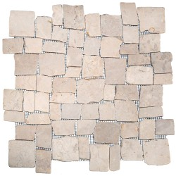 Mosaïque 30x30 random white (MOS013)
