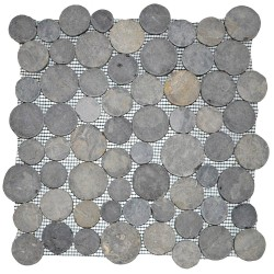 Mosaïque 30x30 moonrond light grey (MOS015)