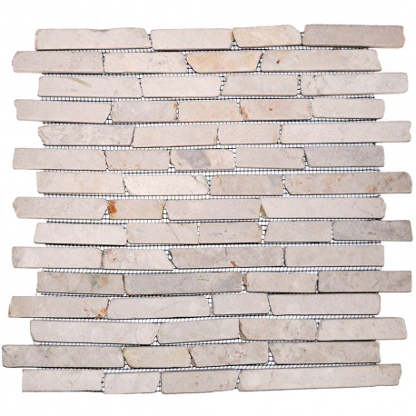 Mosaïque 30x30 cut stick white (MOS022)