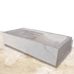 Evier marbre simple bac + égouttoir 90 cm (EVI004)