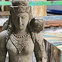 Statue et bouddha