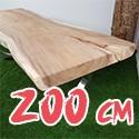 Table en bois de Suar massif 200 cm