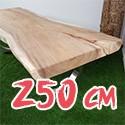Table en bois de Suar massif 250 cm
