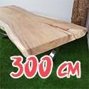 Table en bois de Suar massif 300 cm