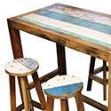 Table haute en teck