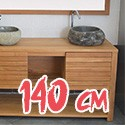 Meuble sous vasque en Teck 140 cm