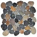 Mosaïque en galet et pierre naturelle