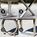 Accessoire paire de pieds Inox brossé