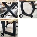 Accessoire paire de pieds métal noir