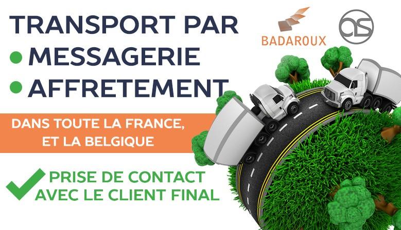 Transport sur toute la France et la Belgique par messagerie et affrètement
